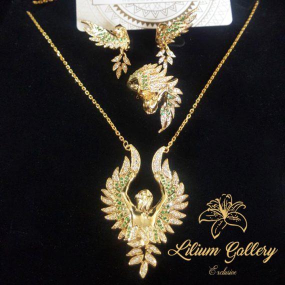 آویز طلا زنانه فرشته بالدار