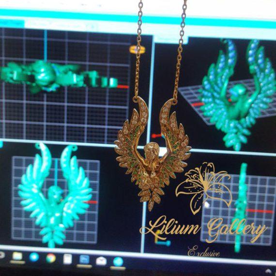 آویز طلا زنانه فرشته