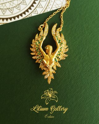 آویز طلا زنانه,مدال طلا فرشته,گردنبند فرشته