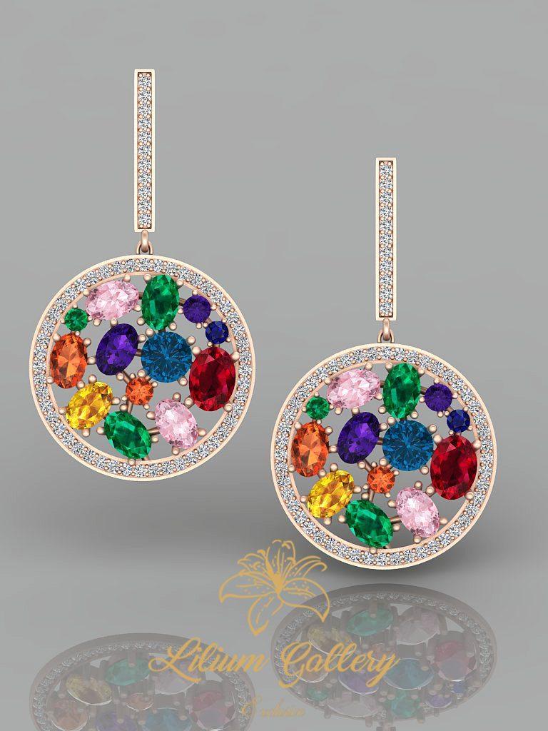 Gold colored pendants (multi color)