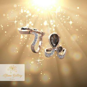 Gold ring of feminine quartz