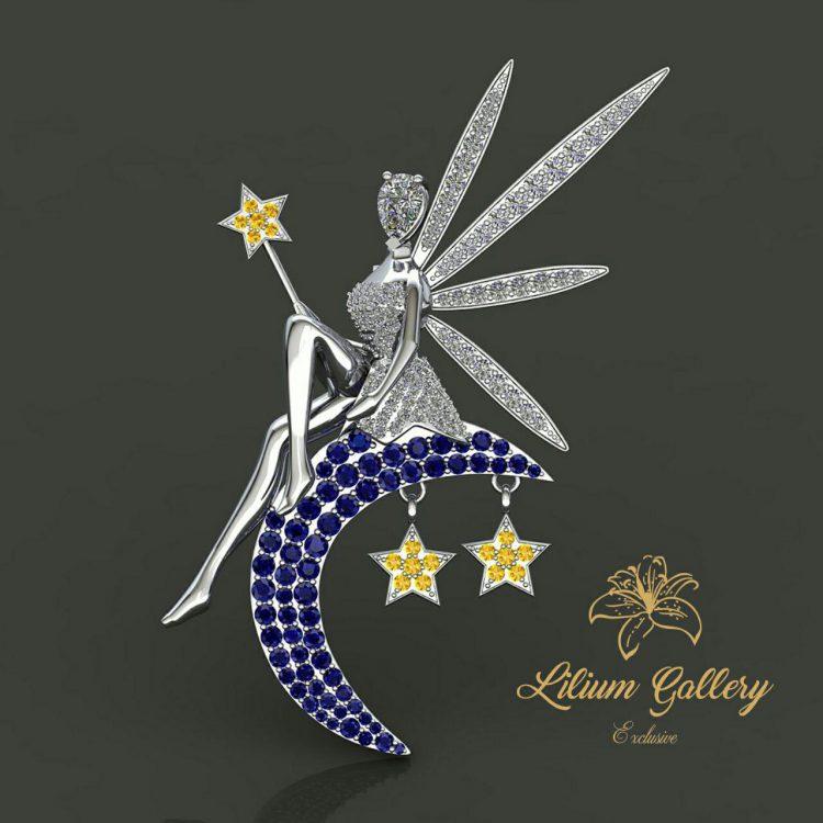 آویز طلا زنانه فرشته,Gold woman pendant angel,لیلیوم گالری
