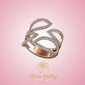 انگشتر طلا زنانه برگ,Women's Gold Ring Leaf,انگشتر طلا