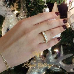 انگشتر طلا زنانه ۴ تخمه - انگشتر زنانه - انگشتر 4 سنگ - انگشتر طلا