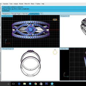 طراحی 3D طلا و جواهر,نرم افزار متریکس,طراحی سه بعدی طلا