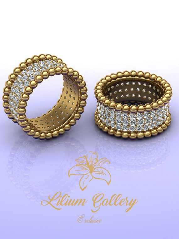 gold women beads ring
