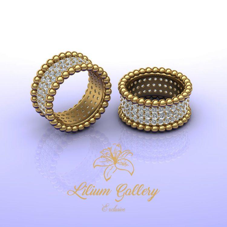 انگشتر طلا زنانه ریسه,انگشتر طلا جواهر,انگشتر زنانه