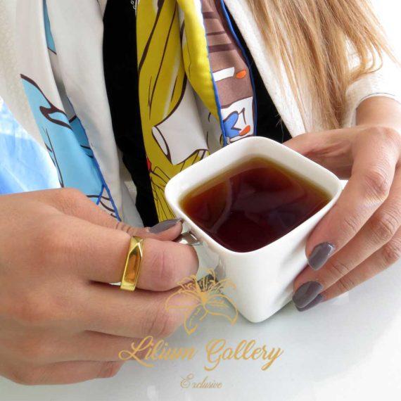 انگشتر طلا زنانه ویتالی,انگشتر زنانه,ساخت طلا و جواهر,گالری لیلیوم