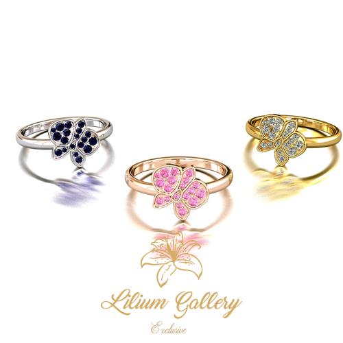انگشتر طلا زنانه ارکیده - انگشتر زنانه - انگشتر طلا - انگشتر خاص - گالری لیلیوم