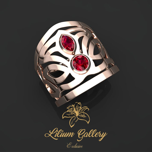 انگشتر طلا زنانه ویونا - انگشتر زنانه - انگشتر طلا - انگشتر خاص
