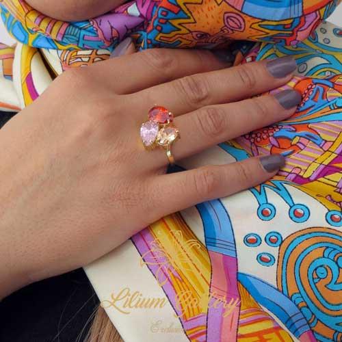 women-silver-ring-3stone-handmade