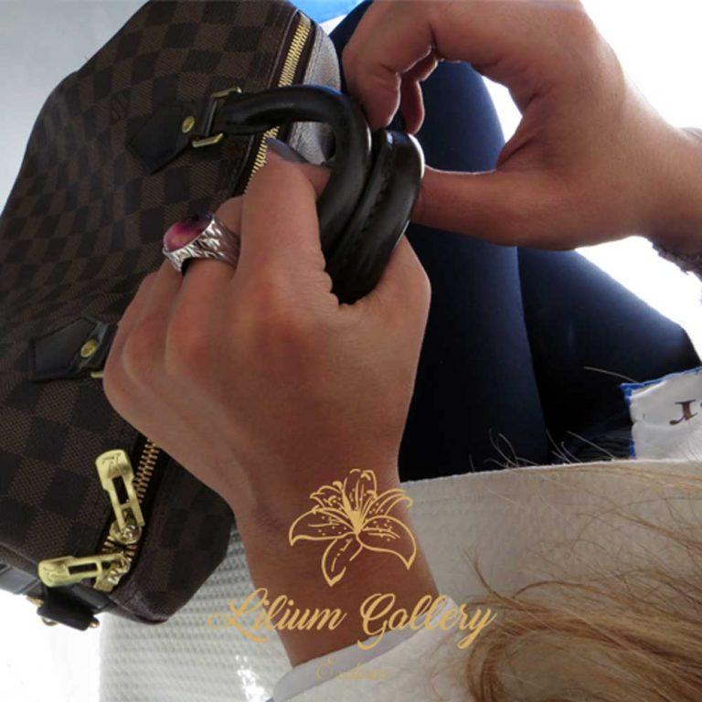 انگشتر نقره زنانه لوزی,انگشتر دست ساز,انگشتر عقیق,گالری لیلیوم