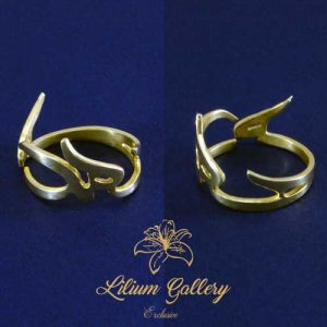 انگشتر نقره اسم محمد (ص),طراحی اسم,انگشتر اسم,انگشتر طلا,گالری لیلیوم