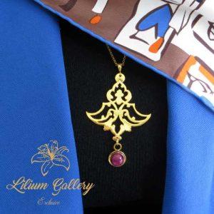 گردنبند نقره زنانه اسلیمی,گردنبند زنانه,گردنبند دست ساز,ساخت طلا و جواهر